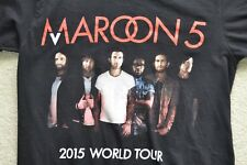 Maroon 5 2015 World Tour Concert T-Shirt Size Small Euc