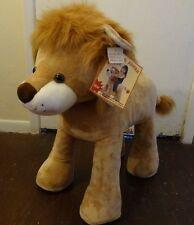 NEW Fine Toy Jungle LION Animal Metal Frame Stuffed Plush Kid Child Sit Ride On