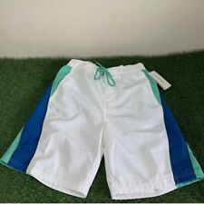 Speedo Swim Beach Shorts Mens Size Large Green Blue White New With Tags