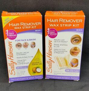Sally Hansen Hair Remover Wax Strip Kit for Face & Bikini 2035 (LOT OF 2)