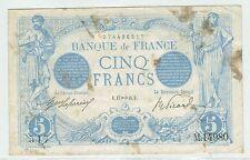 BILLET 5 FRANCS BLEU U 17 NOVEMBRE 1916 517 M 14980