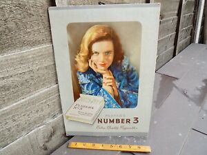 Player's Number 3 Cigarette Tobacco Advertising Card Sign c1950