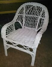 White Wicker Doll Chair Furniture * Brand New Without Tags!