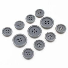 11pcs 15/20mm Thick Grey Swirl Pattern Button Suit Set Bespoke Blazer Sport Coat