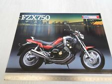 brochure depliant originale Yamaha 750 FZX prospekt