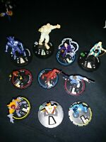 Heroclix 10 piece lot Marvel Heroclix Figures