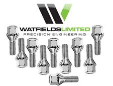 8 x M12 x 1.25 wheel bolts, Taper Fitment, 17mm Hex Head, 34mm Thread Length