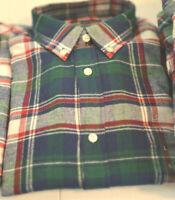 Macy's John Ashford Long-Sleeve Flannel Button-Down Shirt Sz M-L-XL #1111