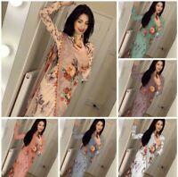 Flower Indian Bollywood Designer Ethnic Sari Wedding Moti Work fancy Saree