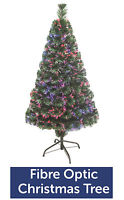 GREEN FIBRE OPTIC CHRISTMAS TREE COLOUR CHANGING - 2ft 3ft 4ft 5ft 6ft XMAS TREE