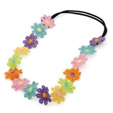 Multi colour flower stretchy elastic hair band