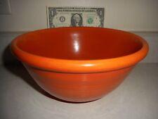 "Vintage Pacific Stoneware 8.5"" X 4"" Rare Burnt Orange Mixing Bowl #18R"