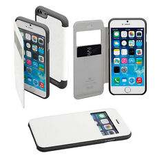 Korean Mercury WOW Window View Flip Case Cover for iPhone 6 - White