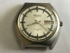Vtg Seiko Automatic 7006 7180 Men's Watch Silver tone NO WATCHBAND FOR PARTS