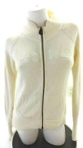 DISNEY TINK WOMENS HEAVY KNIT COTTON ZIP FRONT CARDIGAN SWEATER SIZE M