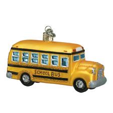 """""""School Bus"""" (46007)X Old World Christmas Ornament w/OWC Box"""