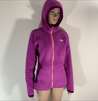 Women's The North Face Pink Fuzzy Zip Hoodie Sweater M