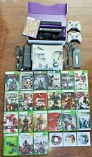 XBOX 360 Console + Kinect + Controllers + Network Adaptor + Headset + Games