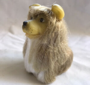 Vintage Dog Rubber Haired 1989 By Citito 7.5 cm Tall