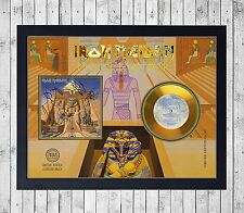 IRON MAIDEN POWERSLAVE CUADRO GOLD/PLATINUM CD EDICION LIMITADA. FRAMED