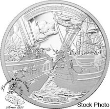 Canada 2013 $50 War of 1812 - HMS Shannon & USS Chesapeak 5 oz Silver Coin
