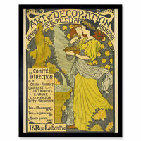 Lorain Decoration Magazine Nouveau French Advert Framed Wall Art Poster
