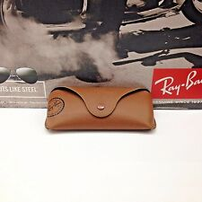 NEW Ray Ban Genuine Brown Sunglasses Eyeglasses Case with Cleaning Cloth