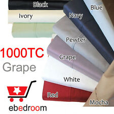 GRAPE KING SIZE BED 1000TC EGYPTIAN COTTON QUILT DOONA COVER SET