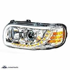 United Pacific Chrome Projection Headlight for 2008+ Peterbilt 388/389-Driver