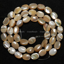 "Big Sale10 strands x 6x8mm Brown Oval MOP Shell Mother Of Pearl Beads 15.5""GB116"