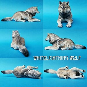 Custom Resculpted Repainted Papo Wolf Animal Figure