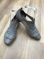 Ladies Rieker sandals size 5 38 brown holiday summer heeled womens leather mink