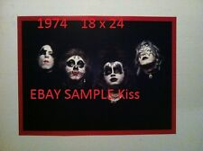 Kiss 1974 First Album Outtake Poster 18 X 24