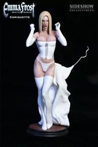 Emma Frost White Queen Comiquette Sideshow Adam Hughes # To 2000 Sealed Shipper