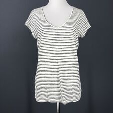 HOLLISTER Top L Juniors Ivory Black Stripe NEW Knit MUST HAVE COLLECTION T Shirt