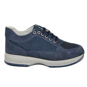 Scarpe uomo blu calzature comode linea comfort made in italy in vera pelle scamo