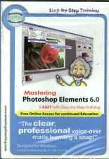 Mastering Adobe PhotoShop Elements 6.0, PC CD, Learn, Tutor, Guide, Step-By-Step
