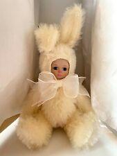 """Marie Osmond """"Bit O' Bunny"""" """"Snowball"""" 5.5"""" Mohair Bunny Mib Coa"""
