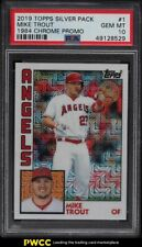 2019 Topps Silver Pack '84 Chrome Promo Mike Trout #1 PSA 10 GEM MINT