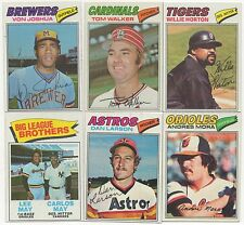 1977 Topps Complete your set 15 picks for $4.50 rookies and stars NM to NMMT