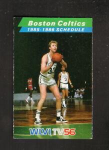 Boston Celtics--Larry BIrd--Dennis Johnson--1985-86 Schedule--WLVI/Miller Lite