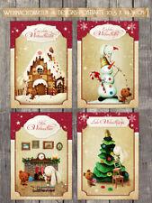 8 niedliche Weihnachtskarten, Postkarten,  Nostalgie, 10,5 x 14,8 cm NEU!!!