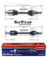 For Pontiac Montana Chevy Uplander FWD Pair of Front CV Axle Shafts SurTrack Set