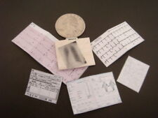Miniature Doctor Physician Medical Record File - DOLLHOUSE 1:12
