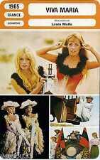 Fiche Cinéma. Movie Card. Viva Maria (France) 1965 Louis Malle