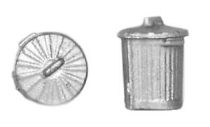 Bachmann 44-522 Model Plastic Old Domestic Dustbins x 10 Silver 00 Gauge 1stPost