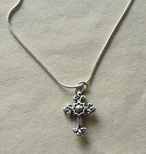 New BRIGHTON silver Sanctum Cross GLORY charm on custom necklace FREE SHIPPING !