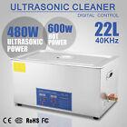 Digital Ultrasonic Cleaner Stainless Steel Heater Timer Industrial Grade22L
