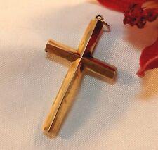 alter Kreuz Anhänger 585 Gold Kettenanhänger / bg 097