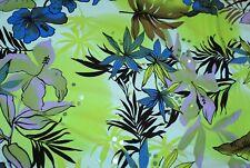 1m x 1.5m wide ENIKO FLORAL Med-Weight Swimwear Lycra Fabric